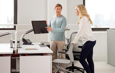 Employee ergonomic furniture training